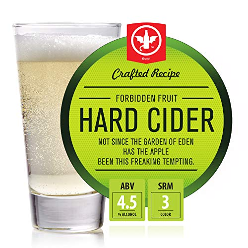 BrewDemon 2 Gal. Forbidden Fruit Hard Cider Recipe Kit - Makes a Wicked-Good 4.5% ABV Batch of Craft Brewed Hard Cider