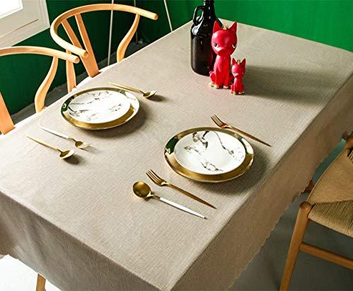 WFSDKN tafelkleed, solide decoratief pvc-tafelkleed, kleurrijk, super waterdicht, oliebestendig, rechthoekig, bruiloft, eettafel, tafelkleed