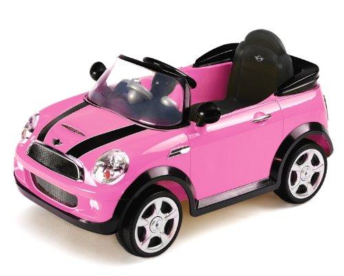 Biemme 1022RS - Auto Elettrica Mini Cooper S con Radiocomando, 6 Volt, 101x60x53 cm, Rosa