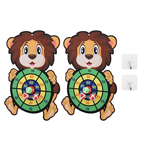 Juego de Tablero de Dardos de 2 Juegos, Juego de Tablero de Dardos clásico Seguro con 6 Bolas Adhesivas Divertidos Juegos de Dardos para Fiestas en Interiores para niños y niñas(2 Piezas)