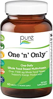 Pure Essence Labs One 'n' Only - World's Most Energetic One Daily Multiple - 60 Tablets