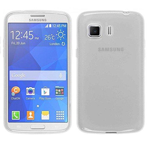 REY Funda Carcasa Gel Transparente para Samsung Galaxy Young 2 G130, Ultra Fina 0,33mm, Silicona TPU de Alta Resistencia y Flexibilidad