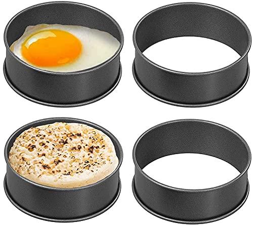 Wrenbury Crumpet Formen   4er-Set, Antihaftbeschichtung, Pochier Form, Rösti Form, Teekuchen Form   Machen Sie ideale Englische Muffins & Crumpets – Hergestellt in Großbritannien