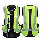 Airbag Moto Motocicletas Chaleco Protector De Seguridad En Bicicleta Chaleco Reflectante A La Abrasión Resistente A La Rotura del Airbag Vehículos Todo Terreno Airbag Chaleco,Verde,XXL