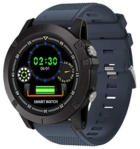 Fitness Armband Herren Damen Smartwatch Pulsmesser Blutdruckmesser Sportuhr IP68 Wasserdicht Alarm SMS- und Anruf-Benachrichtigung Schrittzähler Schlaftracker Outdoor Laufen