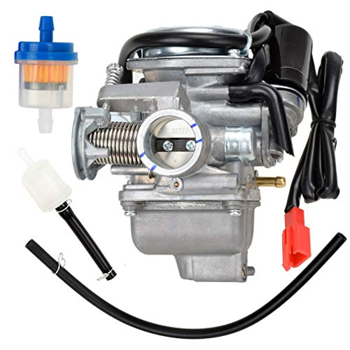 HIAORS 150cc Carburetor PD24J Carb for GY6 4 Stroke Twister 150 Go Kart Motorcycle Scooter 152QMJ 157QMI Eagle Taotao Panterra Kymco 4 Wheeler Dune Buggy Moped Scooter Parts