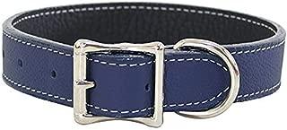 Luxury Italian Leather Tuscany Dog Collar - Black