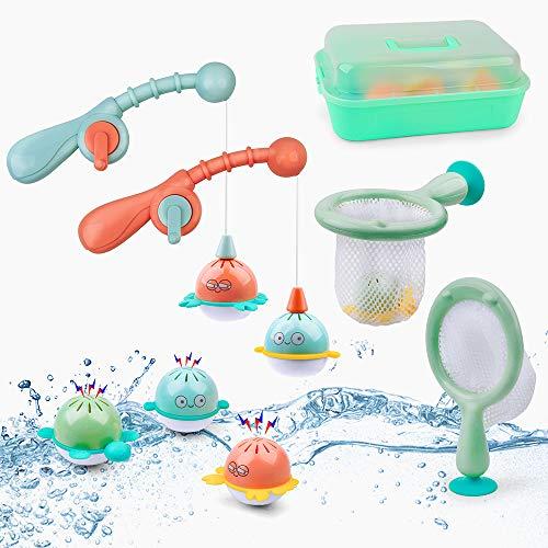 GizmoVine Badespielzeug Boote Badewannenspielzeug Set Schwimmendes Poolspielzeug Wasserspielzeug Babyspielzeug für Jungen und Mädchen (Angeln)