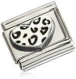 Nomination Unisex oxidierte símbolos Composable Classic oxidierte símbolos (Leopard Corazón) 330101–05de Acero Inoxidable 033010105