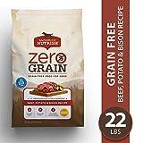 Rachael Ray Nutrish Zero Grain Natural Premium Dry Dog Food, Grain Free, Beef, Potato & Bison, 22 Lbs