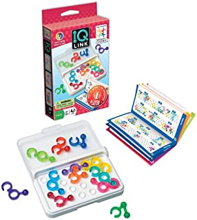SmartGames IQ Link, a Travel Game for Kids and Adults. A STEM-Focused Cognitive Skill-Building Brain Game - Brain Teaser for Ages 8 & Up, Kids and Family Travel Games – Travel Puzzles.