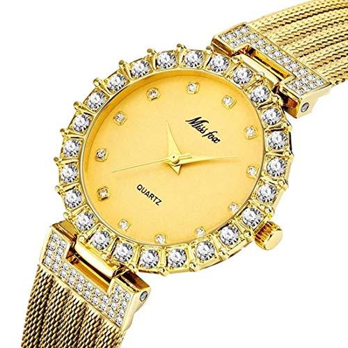 MISSFOX Women Reloj De Pulsera Luxury-Fashion Stainless Steel Quartz Analogous 2102
