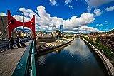 España Puente de Bilbao Ríos Ciudades Nubes BuildingAdult Puzzle niños 1000 Piezas Juego de Rompecabezas de Madera Regalo decoración del hogar Recuerdo de Viaje Especial
