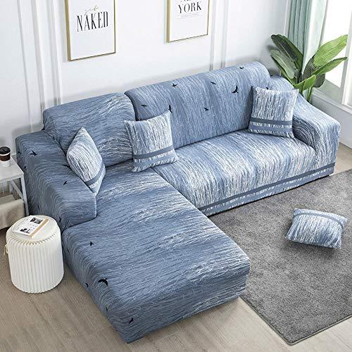 B/H Tejido Poliéster Poliéster Sofa Cubre,Funda de sofá Simple elástica, Funda de sofá de Tela con Todo Incluido-C_230-300cm,poliéster y Elastano Funda sofá