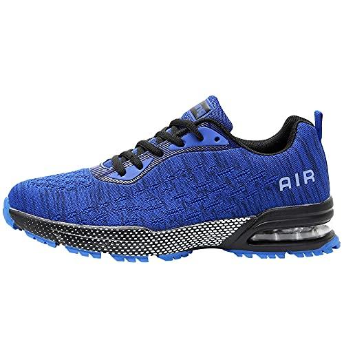 QAUPPE Mens Air Running Shoes Athletic Trail Tennis Sneaker (Blue US 12.5 D(M)…