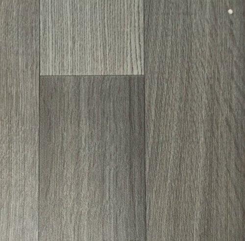 PVC Vinyl-Bodenbelag in der Optik grau anthrazit Holz Planke | PVC-Belag verfügbar in der Breite 400 cm & in der Länge 100 cm | CV-Boden wird in benötigter Größe als Meterware geliefert