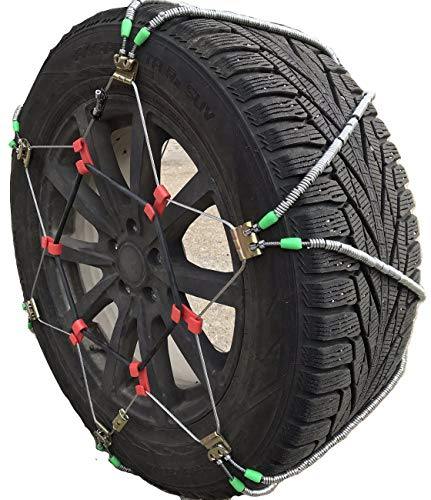 TireChain.com 245/60-20, 245/70-17, 245/75-17, LT245/75-17, 255/60-18, 265/50-19, 265/70-16, 275/45-20 Diagonal Cable Tire Chains, Sold as a Set of 2