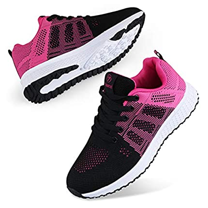 Youecci Zapatillas de Deportivos de Running para Mujer Deportivo de Exterior Interior Gimnasia Ligero Sneakers Fitness Atlético Caminar Zapatos Transpirable Rojo 38 EU