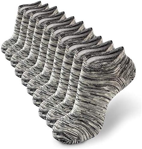 YIZIJIZI Comfy Cotton Casual Socks Low Cut Socks Short Socks Ankle Non Slide Socks 5 Pair Dark product image