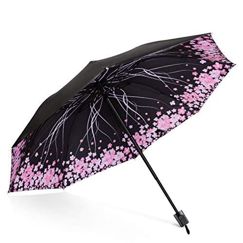 DORRISO Vogue Mujer Plegable Paraguas Mini Paraguas y Sombrillas Antviento Anti-UV Impermeable...