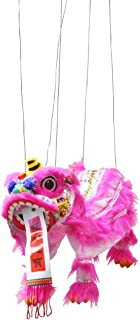 Hot Pink Chinese Lion Dragon Marionette Puppet
