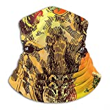 Emonye Beautful Hand Drawn Portrait OG Neck Warmer -Headwear Wide Headbands Scarf Head Wrap Mask