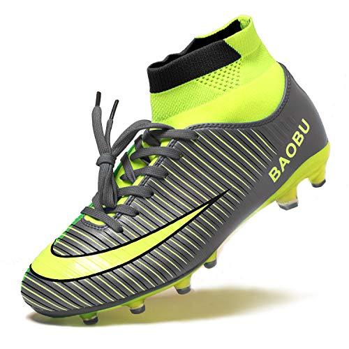 BIGU Fg/Mg Voetbalschoenen voor heren uniseks Hoge top Spikes Microfiber schoenplaten beroep Kinderen jongens Outdoor atletiek Trainingsschoenen