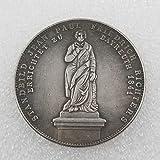 Alemania,Moneda Conmemorativa,1839,1844,Alta Calidad,Segunda Guerra Mundial,Nazi,Exquisita,Colección,Antigüedades,Alta Calidad,2 Piezas Regalo/C/Paridad