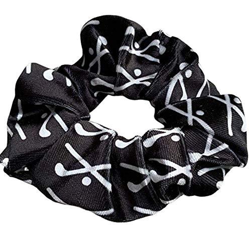 Sportybella Field Hockey Scrunchie, Hair Accessories, Field Hockey Premium Velvet No Crease Hair Elastics, for Girl Field Hockey Players