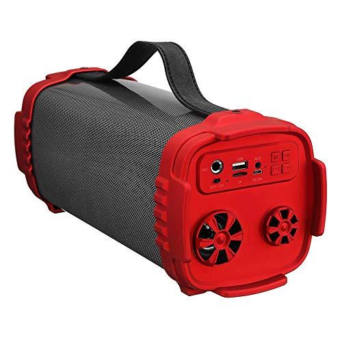 Hhjkl Altavoces portátiles Tarjeta del TF De LED De Colores Al Aire Libre Stereo Luz Altavoz De La Tarjeta FM TF De Radio Bass Playa Piscina Ducha (Color : Red, Size : 305x120x120mm)