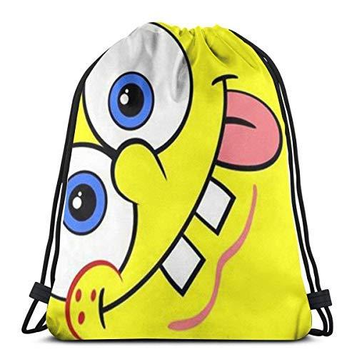 XCNGG Bolsa con cordón Bolsa con cordón Bolsa portátil Bolsa de Gimnasio Bolsa de Compras Classic Drawstring Bag-Spongebob Gym Backpack Shoulder Bags Sport Storage Bag for Man Women