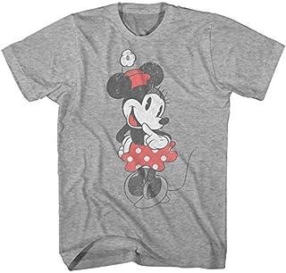 Disney Minnie Mouse Distressed Shirt Vintage Shy Graphic Men's Adult T-Shirt
