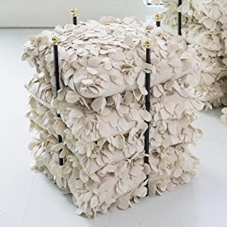 Global Views Open Square Pillow Holder Rack | Gold Stacking Organizer Shelf Quilt Linen
