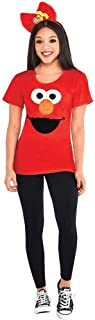 Elmo Halloween Costume Kit for Women, Sesame Street, Medium/Large, Includes Shirt and Headband