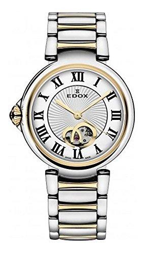 Edox 85025 357RM ARR LaPassion Reloj Suizo automático de Dos Tonos para Mujer