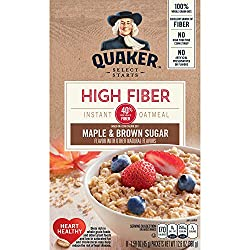 Quaker Instant Oatmeal, High Fiber, Select Starts, Maple Brown Sugar, Breakfast Cereal, 8 Packets
