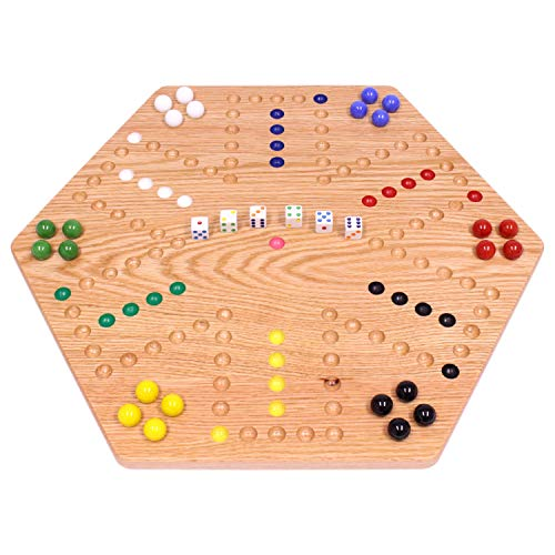 Oak-Wood Hand-Painted Double-Sided Wooden Aggravation Marble Game Board by AmishToyBox.com, 20