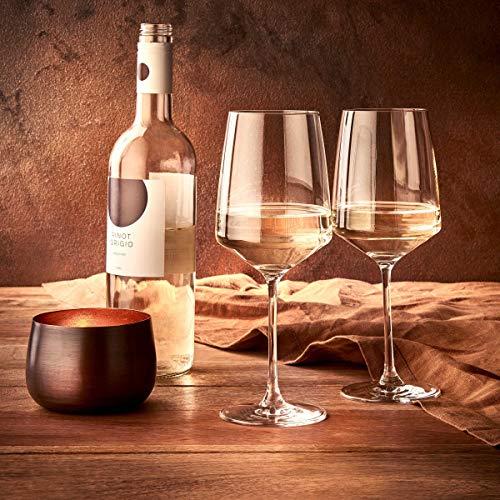 BUTLERS Wine & Dine Wei?weinglas 520ml 6er-Set - Hohes Kristallglas - Stielglas, Weinglas sp?lmaschinengeeignet