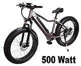 "E-Fatbike ""Fat Tire Subcross"", 40 km/h, 500 Watt, 48V/10,4 Ah Lithium-Akku, 26 Zoll, E-Bike, Elektrofahrrad, S-Pedelec, Fahrrad, E-Fahrrad, Elektro Fat Bike"
