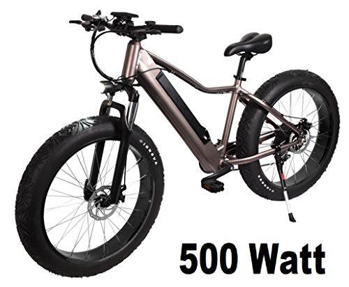 "E-Fatbike ""Fat Tire Subcross"" 26 Zoll 500 Watt E-Bike Elektrofahrrad Pedelec E-Fahrrad Fahrrad Elektro Fat Bike E Fatbike mit integriertem Akku"
