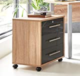moebel-dich-auf.de Rollcontainer TABOR Büro-Rollcontainer Container mit Schubladen (Sonoma...