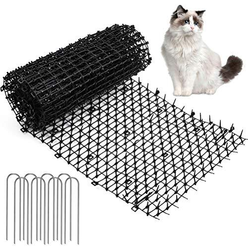 N\A Katzen-Abwehrstreifen Tier-Barriere 30cmX2m Tiervertreiber Katzenabwehr Katzenschreck Tierschreck mit U-förmiger Nagel schwarz