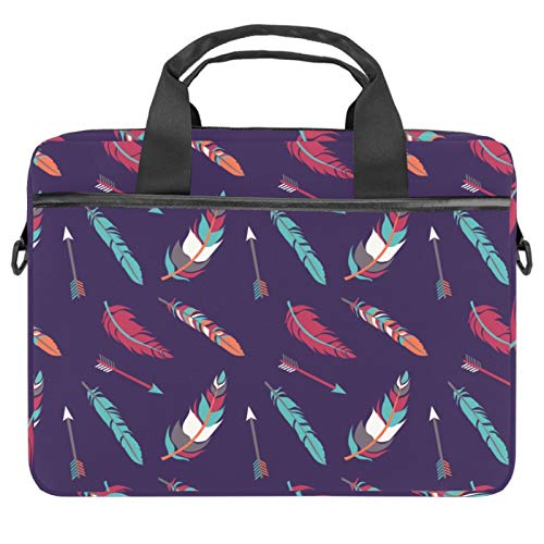 1515 Laptop Bag 15 inch Business Computer Laptop Case Laptop Sleeve Shoulder Messenger Bag Tablet Carrying Case for Women and Men Colorful Boho Feathers Arrow Dark