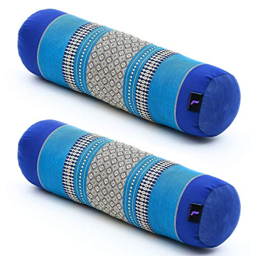 LEEWADEE Set de 2 Yoga bolsters pequeños – Cojines...