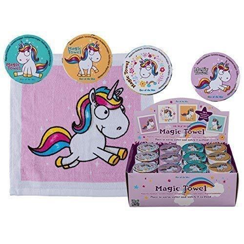 8x Magisches Handtuch Einhorn 30cm Pferd Tier Waschlappen Kinder Mitgebsel