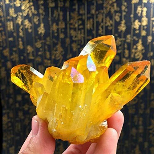 BTZHY 1pc natürliche gelbe Kristallquarz Citrin Cluster Mineral Specimen New Natürliche Citrine Cluster Kristallwohnkultur (Color : Yellow)