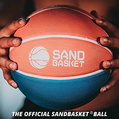 Pelota de Sand Basket AICS profesional reglamentaria, talla 4 y 6, de goma de interior y exterior, para niños, niño, hombre, mujer, adultos, mini económico (naranja, azul y amarillo, talla 4)