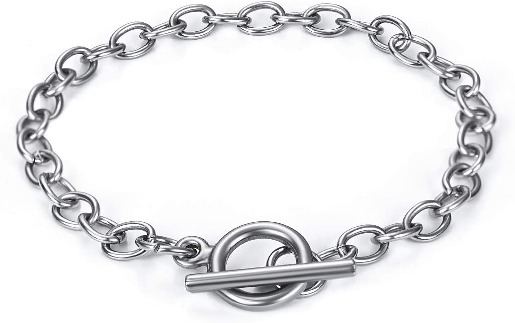Chain 5Pcs Bracelets Stainless Steel Bracelet Inexpensive Link wi Memphis Mall Connectors