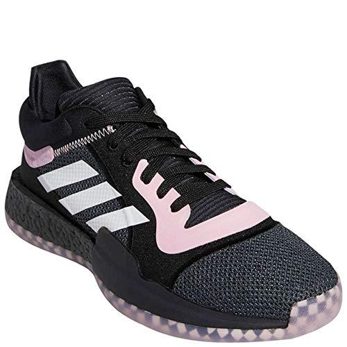 Adidas Marquee Boost - Pallacanestro basso da uomo, colore: Nero/Rosa/Bianco, Nero (Nucleo nero/rosa vero/bianco nuvola.), 46 EU