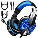 YINSAN TM5, Cuffie Gaming per PS4, Cuffie PS4 Over Ear con Microfono, RGB LED, Audio Cavo...